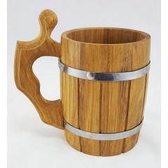 Mug wooden beer mug barrel, volume 0.8 l.