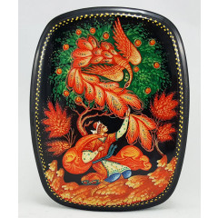 Lacquer Box Kholuy The Firebird, 10 x 8 x 3