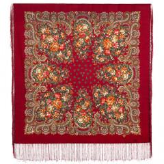 Pavlovo Posad Shawl Pavlovo Posad with silk fringe 89 x 89 1381-13