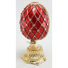Copy Of Faberge HJD0898+HJF1438C EASTER small double Egg with basket, red