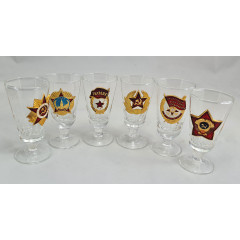 Ware Set of wine-glasses small with USSR, 6 pieces in box.