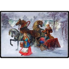 Lacquer Box winter ride, Meating (11 x 15 cm.)