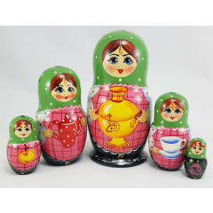Nesting doll 5 pcs. samovars