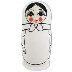 Nesting doll prepared for paint, 22280