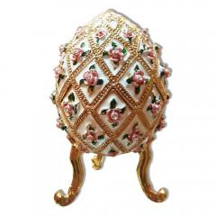 Copy Of Faberge 4804 egg box, white