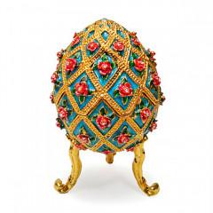 Copy Of Faberge 4804 egg box, blue