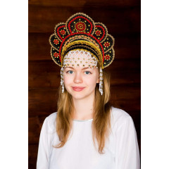 Russian folk costume KOKOSHNIKI Kokoshnik Elena 16211
