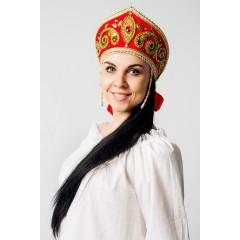Russian folk costume KOKOSHNIKI Kokoshnik Pelageya 16276