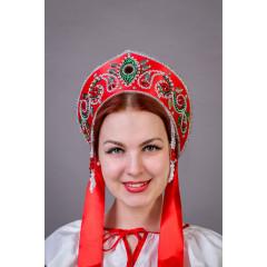 Russian folk costume KOKOSHNIKI Kokoshnik Pelageya 21891